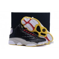 Air Jordans 13 Black Grey Gold For Sale Online Hot