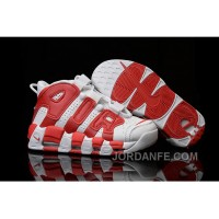 Men's Nike Air More Uptempo Chicago White Red Online