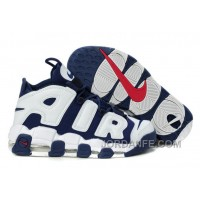Nike Air More Uptempo Olympic Midnight Navy White Spirit Red Authentic