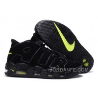 Cheap Nike Air More Uptempo Black/Black-Volt For Sale Super Deals