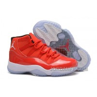 "Girls Air Jordan 11 Retro Carmelo Anthony ""Red"" PE For Sale Authentic"