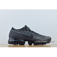 Nike Air Vapormax Flyknit Women And Men Newest New Colorways Gray Black Zoom 849558-041 2018 Authentic