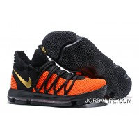 "Nike KD 10 ""China Exclusive"" Black/Orange Gold Latest"