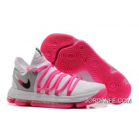 Nike KD 10 White Pink Grey Top Deals