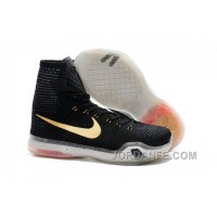 "Nike Kobe 10 High Top Elite ""Rose Gold"" Black/White/Hot Lava-Metallic Red Bronze Authentic"