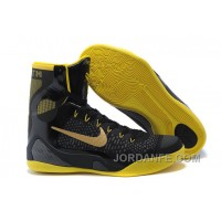 Nike Zoom Kobe 9 Elite High Top XDR Black Yellow PE Xmas Deals