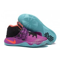 "Nike Kyrie 2 ""Easter"" Purple/Mint-Red-Black Free Shipping"