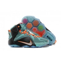 Nike LeBron 12 Teal/Orange-Black For Sale