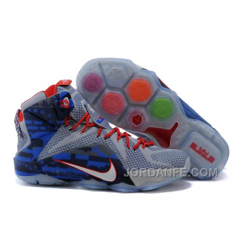 0822d773eb9a USD  85.30  99.18. Nike LeBron 12 Independence Day Authentic ...