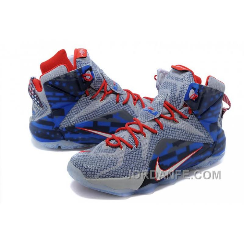 5490ecd090a2 ... Nike LeBron 12 Independence Day Authentic ...