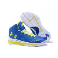 "Under Armour UA Curry One ""Home"" Blue Yellow Shoes For Sale New Release"