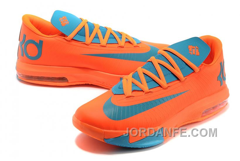 3cd0c928ceae Nike Kevin Durant KD 6 VI Total Orange Neo Turquoise For Sale New Release