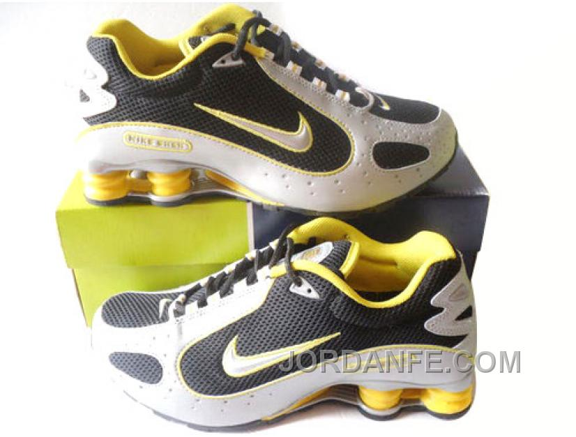 online retailer fa8ec 88d50 Men's Nike Shox Monster Shoes Black/White/Yellow Lastest