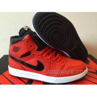2016 Air Jordan 1 High Red Black Shoes For Sale Free Shipping