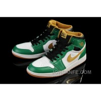Air Jordan 1 White Green Gold New Arrival