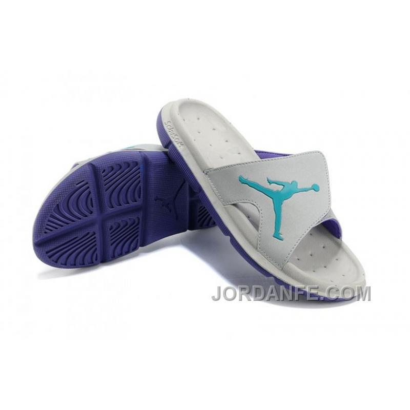 sports shoes 0627c cf5d0 Air Jordan RCVR Slide Select Light Grey Purple Sandals New Release