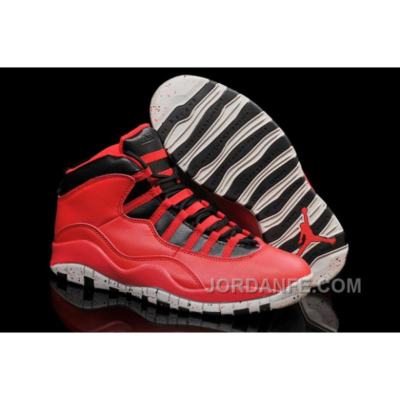 """d95b93a559d983 Air Jordans 10 """"Gym Red"""" Gym Red Black-Wolf Grey Shoes For Sale ..."""