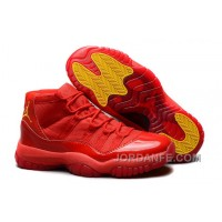 """Air Jordans 11 Retro """"Red October"""" Red/Varsity Maize For Sale New Release"""