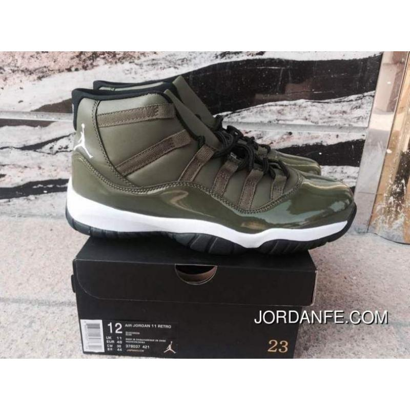 innovative design d4b7e a7738 Air Jordan 11 Olive Green Discount
