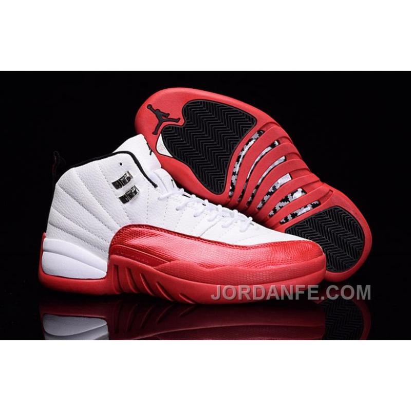 2018 Men Air Jordan 12.5 Low White Red Shoes