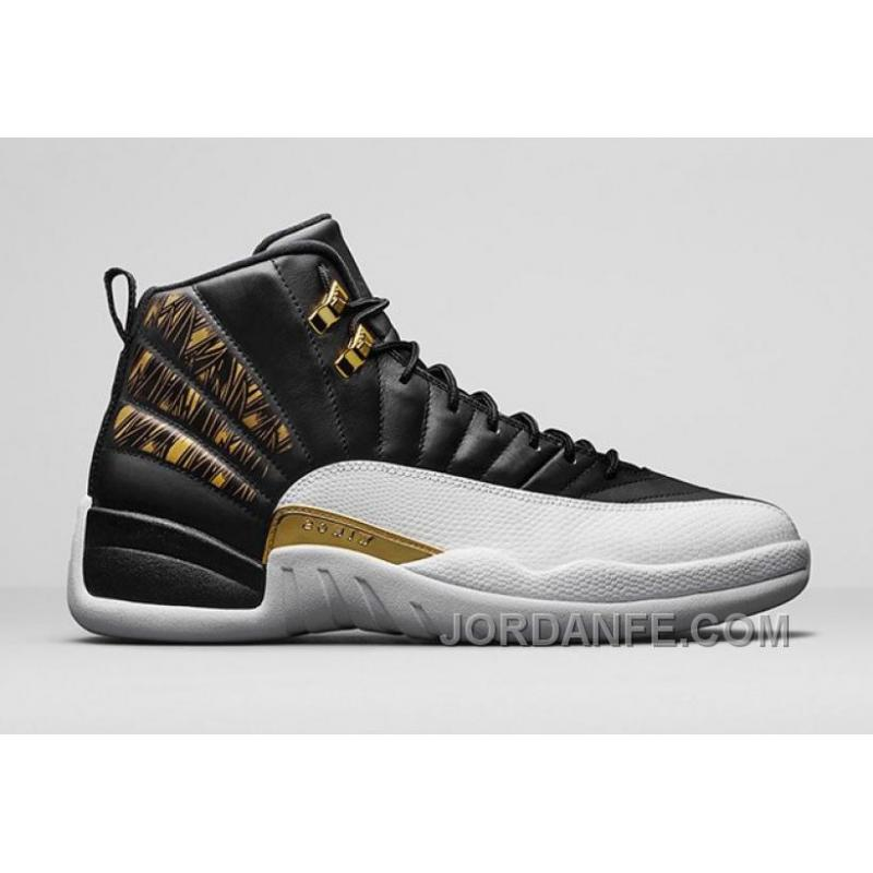 "8b1df87b7b3b 2016 Air Jordan 12 ""Gold Wings"" Black Metallic Gold-White Hot"