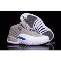 2016 Air Jordan 12 Wolf Grey White Blue New Release