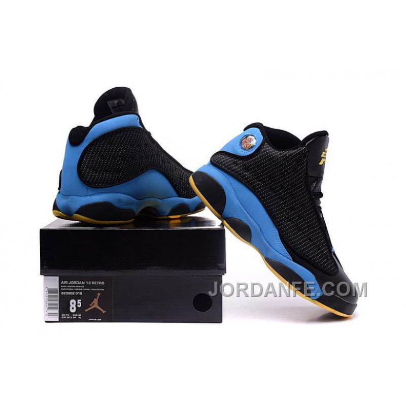 "purchase cheap 4bf3e f6686 ... 2016 Air Jordans 13 ""CP3 Away"" PE Black Sunstone-Orion Blue For"