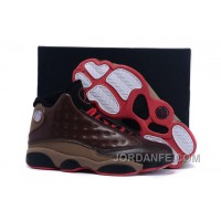 Air Jordans 13 Cigar Custom By Damien Brown Black Red For Sale New Arrival
