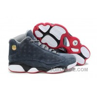 Jordan 13 Suede Cool Grey White Red For Sale