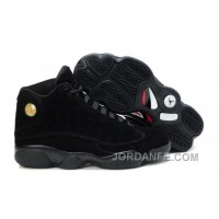 Jordan 13 Suede All Black For Sale