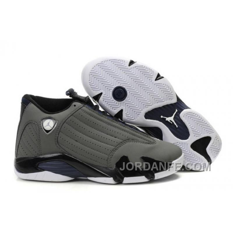 sports shoes f7d7c 6cc74 Air Jordan 14 Retro Light Graphite Midnight Navy Black White New Release