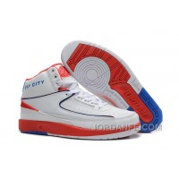 Air Jordan 2 Retro Rip City White Red Blue Xmas Deals