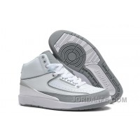 Air Jordan 2 Retro White Metallic Silver Natural Grey Authentic