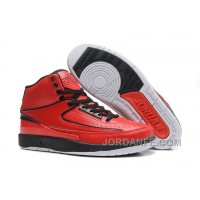 Air Jordan 2 Retro QF Varsity Red Black Red Top
