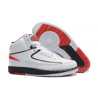Air Jordan 2 Retro White Varsity Red Black Hot