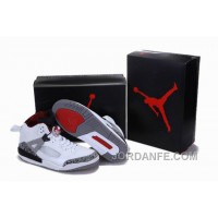 Air Jordan 3.5 White Grey Red For Sale