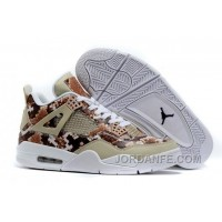 "2016 Air Jordans 4 ""Snakeskin"" White Grey Brown For Sale New Release"
