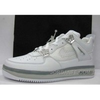 Air Jordan Force Fusion 4 White Silver Cement Gray New Release