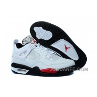 Air Jordan 4 Temporal Rift White Red Black Authentic