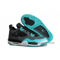 "Air Jordans 4 Retro ""Tiffany"" Teal-Black/Cement Grey For Sale Top"