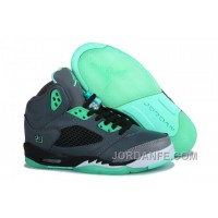 Air Jordan 5 Dark Grey Green Glow New Arrival