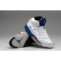Air Jordan 5 White Blue Orange New Release