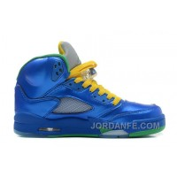 Air Jordan 5 GS Metallic Blue Online