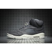 Air Jordan 5 Wool Dark Grey Free Shipping