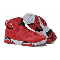 Air Jordans 7 Red Black White Shoes For Sale Discount