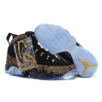 Air Jordan 9 Black Gold Top