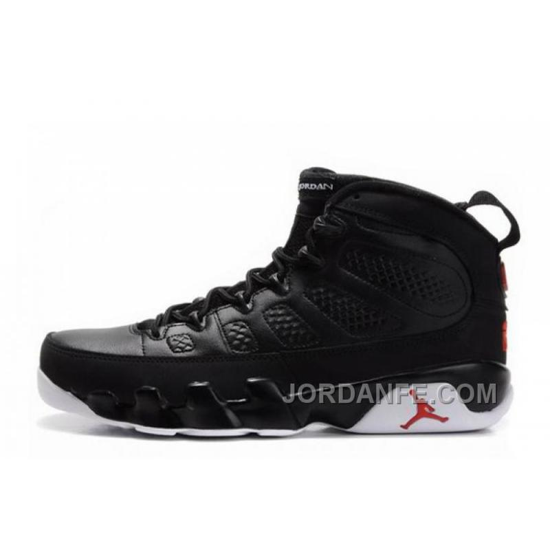 a3e118f2571d8 Air Jordans 9 Retro Black-White Varsity Red For Sale New Release ...