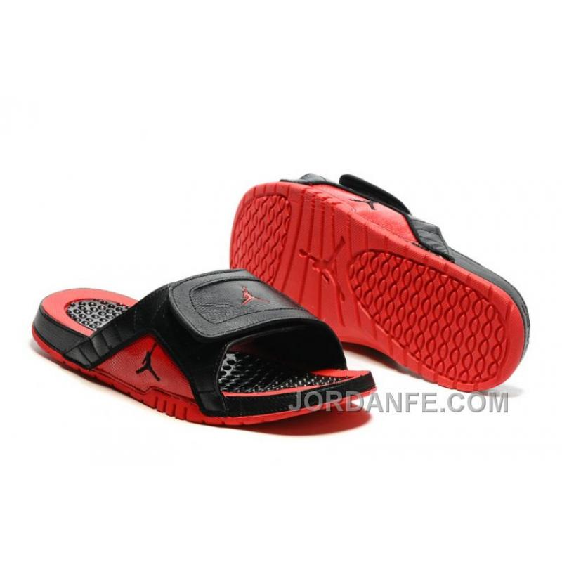 8e75894b8 USD  80.51  99.18. 2016 Air Jordan Hydro 12 Slide Sandals Black Red ...