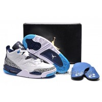 """Jordan Son Of Mars Low """"Hornets"""" White/Midnight Navy-Turquoise Blue For Sale Authentic"""