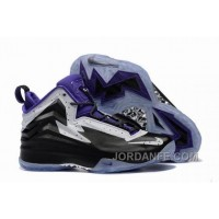 Jordan Air Spike 40 Forty PE Black Purple White Shoes For Sale Discount
